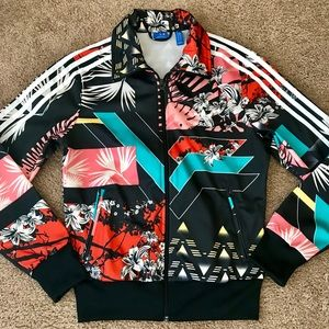 Adidas floral track jacket | Small